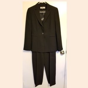 Tahari black suit
